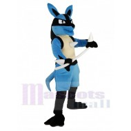 Blue Lucario with White Arms Pokémon Mascot Costume