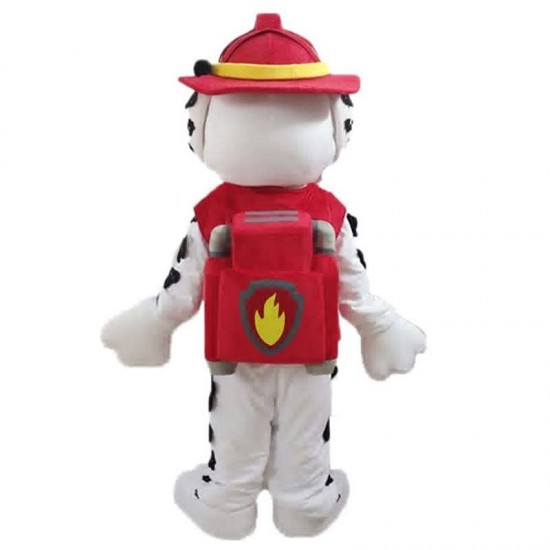 Paw Patrol Marshall Dog Mascot Costume with Red Clothing Fancy Dress