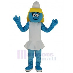 Blue Smurfs Smurfette Anime Mascot Costume Cartoon