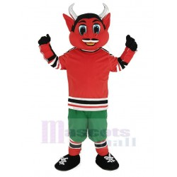 New Jersey Red Devil Mascot Costume with Green Trousers