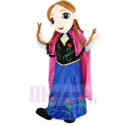 Frozen Princess Anna Mascot Costume Cartoon