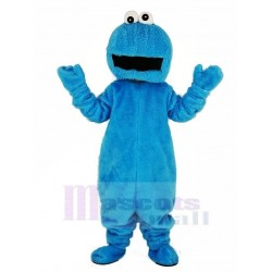 Elmo Blue Cookie Monster Mascot Costume with Big Mouth