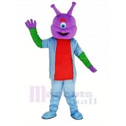 Alien Mascot Costume with Purple Head