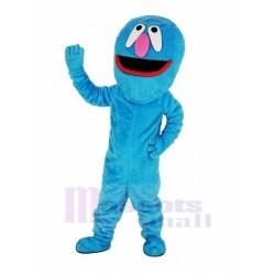 Sesame Street Red Mouth Blue Elmo Monster Mascot Costume