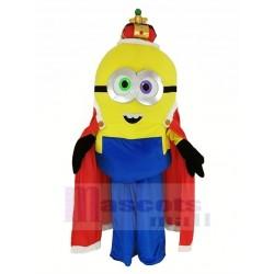 Despicable Me Minion King Bob with Cloak Mascot Costume Cartoon