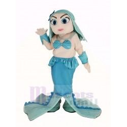 Blue Mermaid Mascot Costume Cartoon