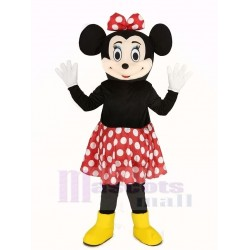 Minnie Mouse Mascot Costume in Red Skirt