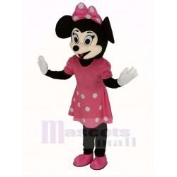 Pink Minnie Mouse Mascot Costume Cartoon