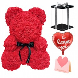 Rose Teddy Bear Flower Best Gift for Mother's Day, Valentine's Day, Anniversary, Weddings and Birthday