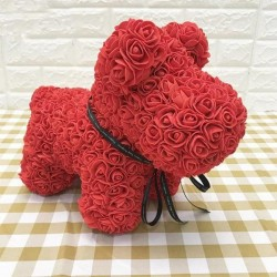 Rose Puppy Dog Flower Puppy Dog Best Gift for Mother's Day, Valentine's Day, Anniversary, Weddings and Birthday