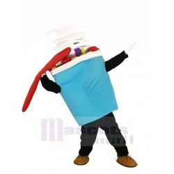 Light Blue Ice Cream Mascot Costume