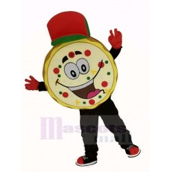 Yummy Pizza Mascot Costume with Red Hat