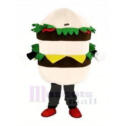 Hamburger with Cheese Mascot Costume Cartoon