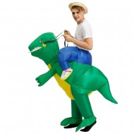 Green Dinosaur Ride on Inflatable Costume Blow up