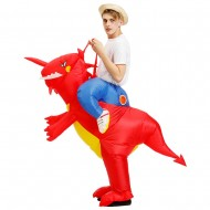 Red Dinosaur Ride on Inflatable Costume Blow up