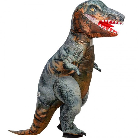 Gray T-Rex Tyrannosaurus Dinosaur Inflatable Costume for Adult