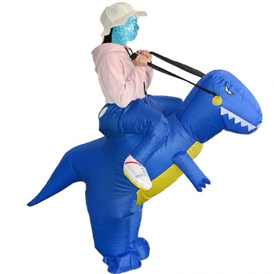 T-Rex Dinosaur Carry me Ride on Inflatable Costume Halloween Christmas for Adult