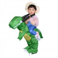 T-Rex Dinosaur Carry me Ride on Inflatable Costume Halloween Christmas for Kids