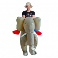 Light Brown Elephant Carry me Ride on Inflatable Costume Halloween Xmas for Adult