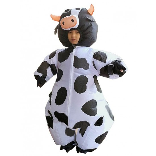 Cow Milk Cattle Inflatable Costume Halloween Christmas