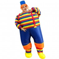 Clown with Striped Clothes Inflatable Costume Halloween Christmas for Adult