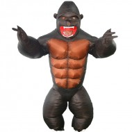 Gorilla Inflatable Costume Monkey Orangutan Gibbon Chimp for Adult