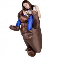 Blue Gorilla Carry me Ride on Inflatable Costume Monkey Orangutan Gibbon for Adult