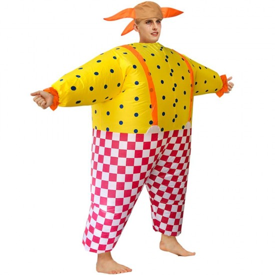 Clown Inflatable Costume Halloween Christmas for Adult Party Time