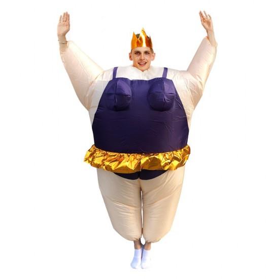 Ballerina Inflatable Costume Tiara Crown Halloween Christmas for Adult