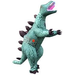 Blue Stegosaurus Dinosaur Inflatable Costume Halloween Christmas for Adult