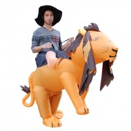 Lion Carry me Ride on Inflatable Costume Fancy Dress