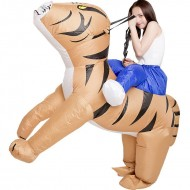 Tiger Carry Me Ride on Inflatable Costume Halloween Xmas for Adult