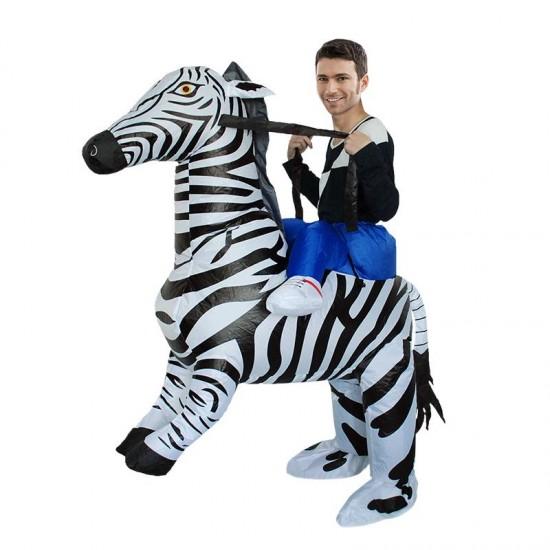 Zebra Carry me Ride on Inflatable Costume Halloween Christmas