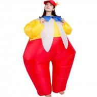 Clown with Tie Inflatable Costume Halloween Christmas for Adult
