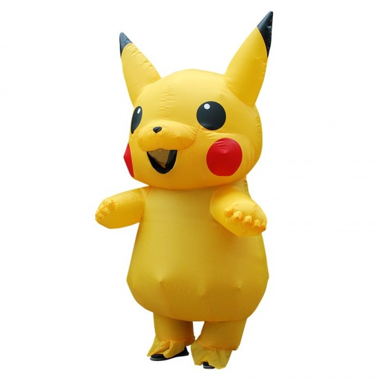 Yellow Pikachu Inflatable Costume Air Blow up Cosplay
