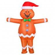 Gingerbread Man Inflatable Costume Halloween Christmas for Adult