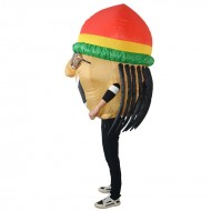 Jamaican Singer Inflatable Costume Halloween Christmas for Adult