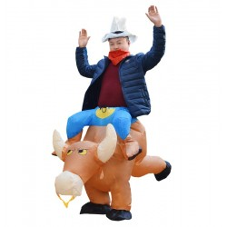 Brown Cow Carry me Ride on Inflatable Costume Halloween Xmas