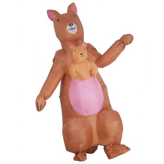 Kangaroo with Baby Kangaroo Inflatable Costume Halloween Christmas Costume for Adult/Kids