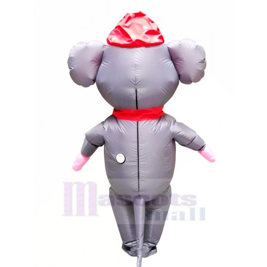 Mr. Mouse with Red Hat Inflatable Mascot Costume Cartoon