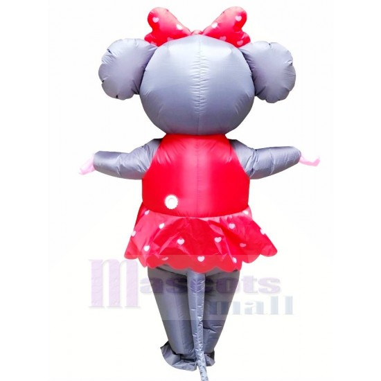 Mrs. Mouse with Red Dress Inflatable Mascot Costume Cartoon