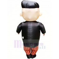 Handsome Boss with Glasses Inflatable Mascot Costume Cartoon