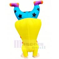 Funny Upside-down Handstand Clown Buffon Inflatable Mascot Costume Cartoon