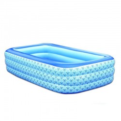 Inflatable Rectangle Swimming Pool For 3-6 Years Old Children
