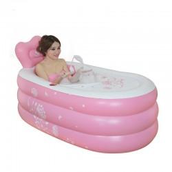 Inflatable Portable Bath Barrel Bathtub Folding Thickening Warm Keeping