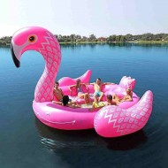 Giant Flamingo Inflatable Floating Bed Swimming Pool Party