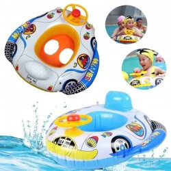 Inflatable Pool Ring Swim Seat Float Boat Outdoor