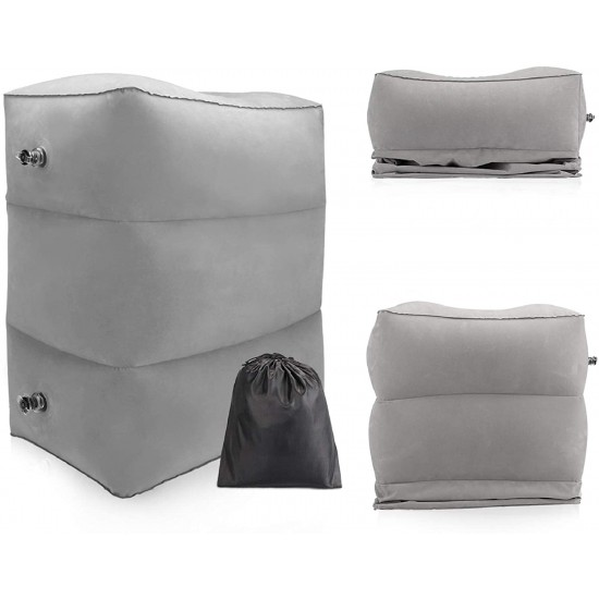 3 Layers Inflatable Portable Travel Footrest Pillow