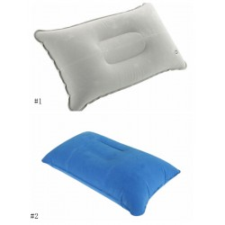 Air Inflatable Pillow Outdoor Portable Folding Double Sided Flocking Cushion