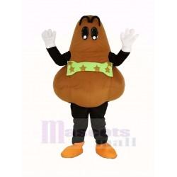 Brown Nose Mascot Costume Cartoon
